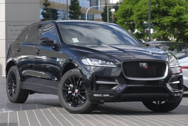 Demo Jaguar F-PACE X761 MY19 25t AWD R-Sport, 2019 Jaguar F-PACE X761 MY19 25t AWD R-Sport Santorini Black 8 Speed Sports Automatic Wagon
