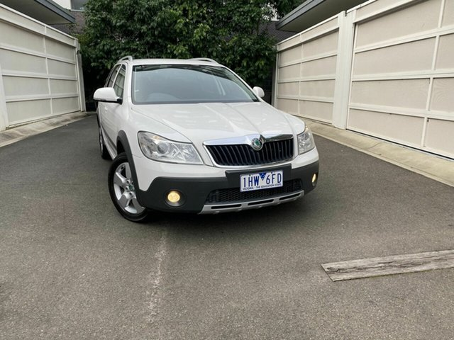 Used Skoda Octavia 1Z MY11 Scout DSG 103TDI, 2011 Skoda Octavia 1Z MY11 Scout DSG 103TDI White 6 Speed Sports Automatic Dual Clutch Wagon