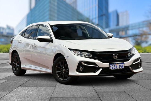 Demo Honda Civic 10th Gen MY20 VTi-S, 2020 Honda Civic 10th Gen MY20 VTi-S Platinum White 1 Speed Constant Variable Hatchback