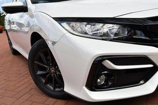 2021 Honda Civic 10th Gen MY20 VTi-S Platinum White 1 Speed Constant Variable Hatchback.