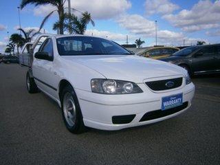 2006 Ford Falcon BF Mk II XL Ute Super Cab White 4 Speed Automatic Utility.