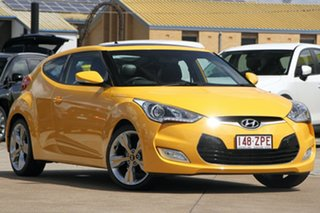 2013 Hyundai Veloster FS2 + Coupe D-CT Yellow 6 Speed Sports Automatic Dual Clutch Hatchback.