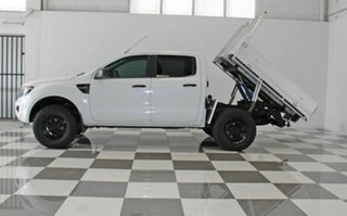 2012 Ford Ranger PX XL 2.2 Hi-Rider (4x2) White 6 Speed Automatic Crew Cab Chassis.