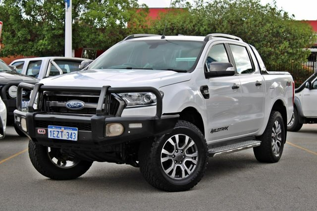Used Ford Ranger PX MkII Wildtrak Double Cab, 2016 Ford Ranger PX MkII Wildtrak Double Cab White 6 Speed Manual Utility