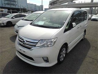 2013 Nissan Serena Highway Star White Automatic.