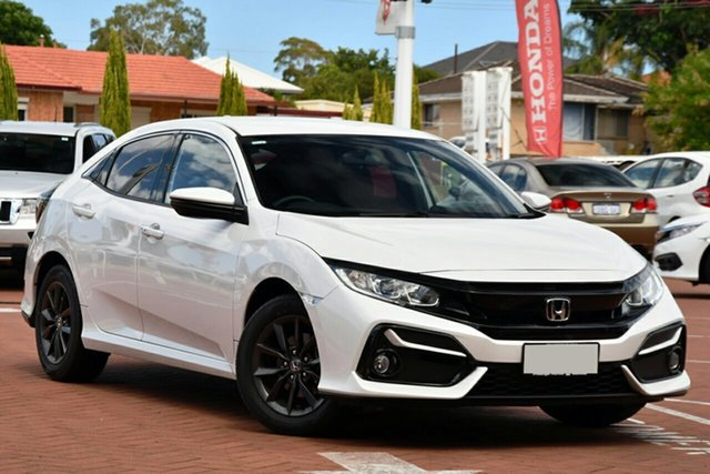 New Honda Civic 10th Gen MY20 VTi-S, 2020 Honda Civic 10th Gen MY20 VTi-S Platinum White 1 Speed Constant Variable Hatchback