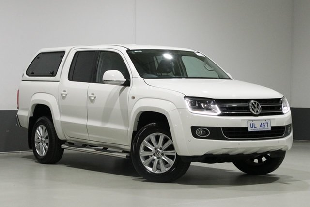 Used Volkswagen Amarok 2H MY16 TDI400 Highline (4x4), 2016 Volkswagen Amarok 2H MY16 TDI400 Highline (4x4) White 6 Speed Manual Dual Cab Utility
