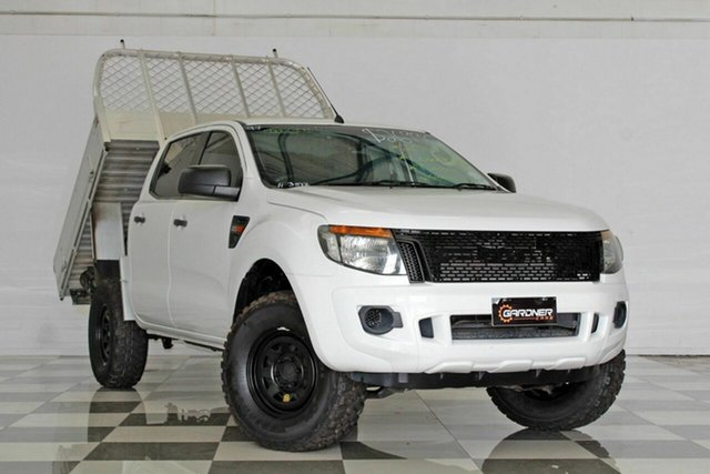 Used Ford Ranger PX XL 2.2 Hi-Rider (4x2), 2012 Ford Ranger PX XL 2.2 Hi-Rider (4x2) White 6 Speed Automatic Crew Cab Chassis