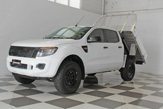 2012 Ford Ranger PX XL 2.2 Hi-Rider (4x2) White 6 Speed Automatic Crew Cab Chassis