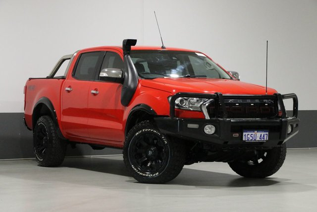Used Ford Ranger PX MkII XLT 3.2 (4x4), 2016 Ford Ranger PX MkII XLT 3.2 (4x4) Red 6 Speed Automatic Dual Cab Utility