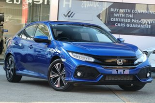 2019 Honda Civic MY20 VTi-LX Blue Continuous Variable Hatchback.