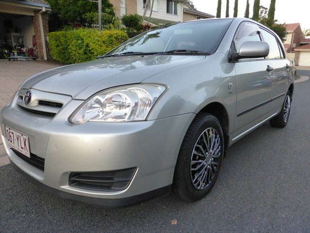 Used Toyota Corolla ZZE122R Ascent Seca, 2005 Toyota Corolla ZZE122R Ascent Seca Silver 4 Speed Automatic Hatchback
