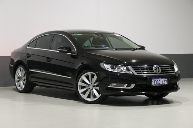Used Volkswagen CC 3C MY15 130 TDI, 2015 Volkswagen CC 3C MY15 130 TDI Black 6 Speed Direct Shift Coupe