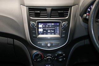 2016 Hyundai Accent RB3 MY16 Active White 6 Speed CVT Auto Sequential Sedan