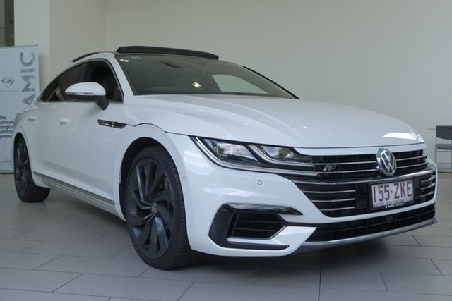 Demo Volkswagen Arteon 3H MY19 206TSI Sedan DSG 4MOTION R-Line, 2019 Volkswagen Arteon 3H MY19 206TSI Sedan DSG 4MOTION R-Line Pure White 7 Speed