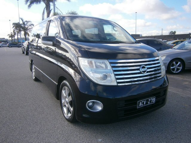 Used Nissan Elgrand E51 Highway Star, 2004 Nissan Elgrand E51 Highway Star Black 5 Speed Automatic Wagon