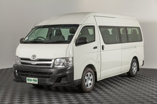 2013 Toyota HiAce TRH223R MY12 Commuter High Roof Super LWB French Vanilla 4 speed Automatic Bus