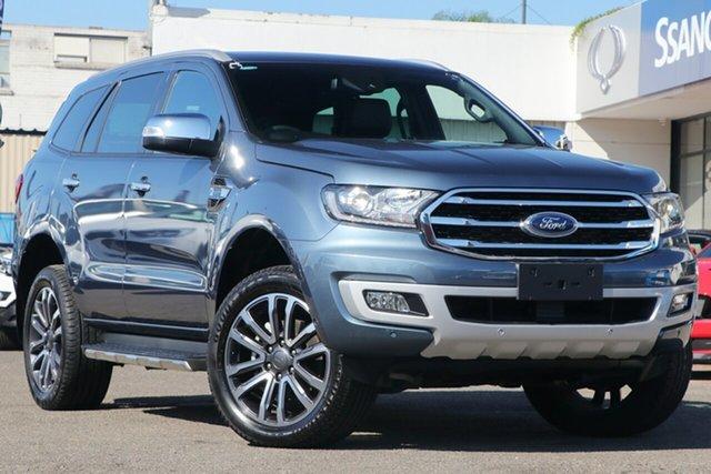 Used Ford Everest UA II 2019.00MY Titanium 4WD, 2019 Ford Everest UA II 2019.00MY Titanium 4WD Blue 10 Speed Sports Automatic Wagon