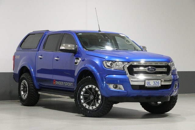 Used Ford Ranger PX MkII MY18 XLT 3.2 (4x4), 2017 Ford Ranger PX MkII MY18 XLT 3.2 (4x4) Blue 6 Speed Automatic Dual Cab Utility
