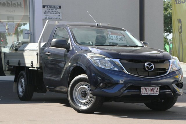 Used Mazda BT-50 UR0YD1 XT 4x2, 2015 Mazda BT-50 UR0YD1 XT 4x2 Blue 6 Speed Manual Cab Chassis