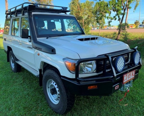 Used Toyota Landcruiser VDJ76R Workmate, 2019 Toyota Landcruiser VDJ76R Workmate White 5 Speed Manual Wagon