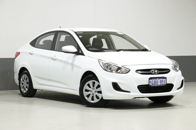 Used Hyundai Accent RB3 MY16 Active, 2016 Hyundai Accent RB3 MY16 Active White 6 Speed CVT Auto Sequential Sedan