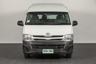 2013 Toyota HiAce TRH223R MY12 Commuter High Roof Super LWB French Vanilla 4 speed Automatic Bus.