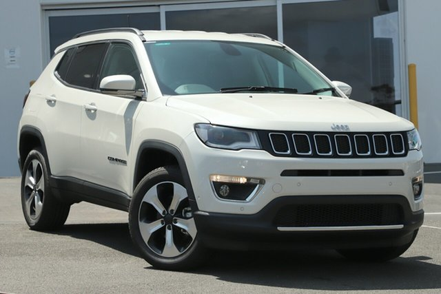 Used Jeep Compass M6 MY18 Limited (4x4), 2018 Jeep Compass M6 MY18 Limited (4x4) Bright White 9 Speed Automatic Wagon