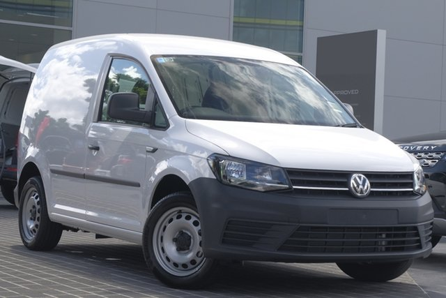 Demo Volkswagen Caddy 2KN MY20 TSI220 SWB DSG, 2019 Volkswagen Caddy 2KN MY20 TSI220 SWB DSG Candy White 7 Speed Sports Automatic Dual Clutch Van