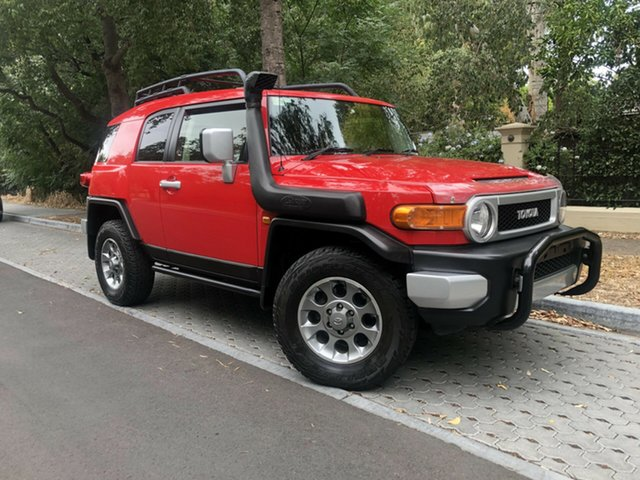 Used Toyota FJ Cruiser GSJ15R , 2012 Toyota FJ Cruiser GSJ15R Red 5 Speed Automatic Wagon