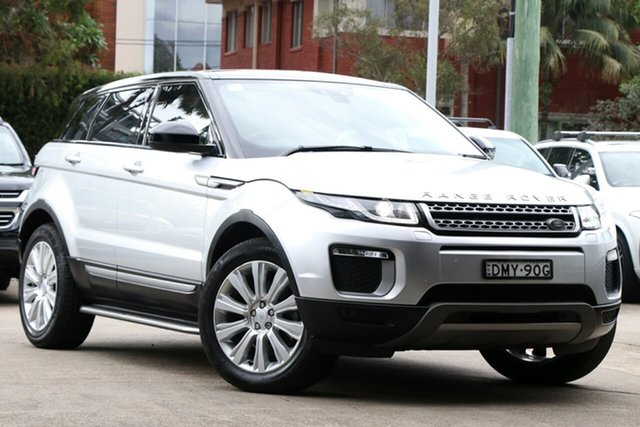 Used Land Rover Range Rover Evoque L538 MY16.5 TD4 180 SE, 2016 Land Rover Range Rover Evoque L538 MY16.5 TD4 180 SE Indus Silver 9 Speed Sports Automatic