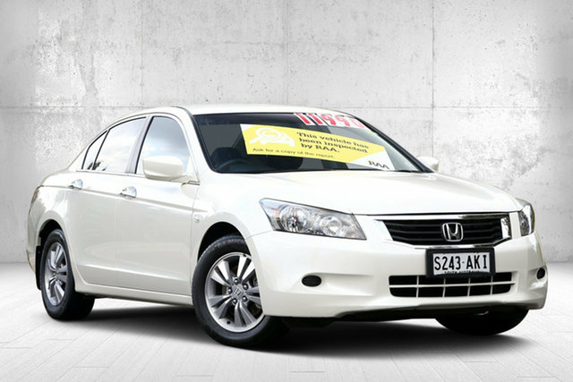 Used Honda Accord 8th Gen MY10 VTi, 2010 Honda Accord 8th Gen MY10 VTi Brilliant White 5 Speed Sports Automatic Sedan