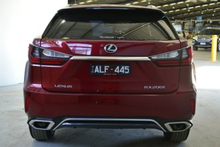 2016 Lexus RX200T AGL20R MY17 F-Sport Red 6 Speed Automatic Wagon