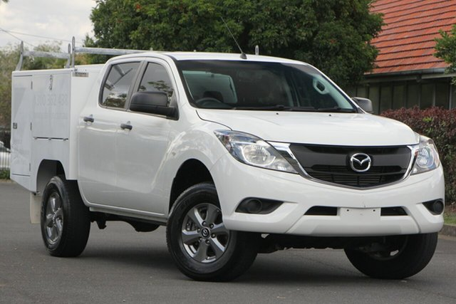 Used Mazda BT-50 UR0YF1 XT 4x2 Hi-Rider, 2015 Mazda BT-50 UR0YF1 XT 4x2 Hi-Rider White 6 Speed Sports Automatic Utility