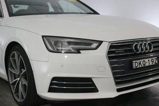 2016 Audi A4 B9 8W MY17 Sport S Tronic White 7 Speed Sports Automatic Dual Clutch Sedan.