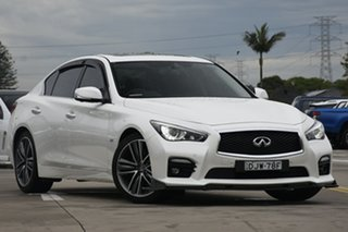 2016 Infiniti Q50 V37 Red Sport White 7 Speed Sports Automatic Sedan.