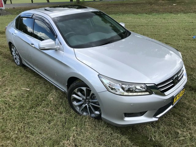 Pre-Owned Honda Accord 9th Gen MY14 V6L South Grafton, 2014 Honda Accord 9th Gen MY14 V6L Silver 6 Speed Sports Automatic Sedan