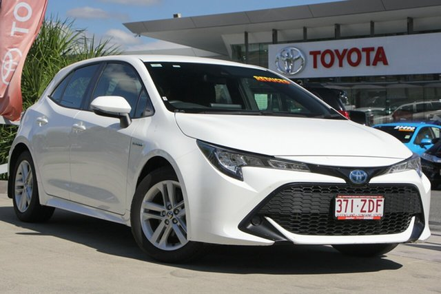 Used Toyota Corolla ZWE211R Ascent Sport E-CVT Hybrid, 2019 Toyota Corolla ZWE211R Ascent Sport E-CVT Hybrid Glacier White 10 Speed Constant Variable
