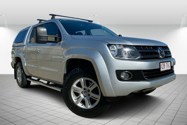 Used Volkswagen Amarok 2H MY13 TDI420 4Motion Perm Highline, 2013 Volkswagen Amarok 2H MY13 TDI420 4Motion Perm Highline Silver 8 Speed Automatic Utility