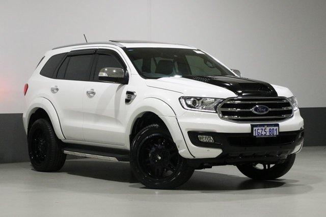 Used Ford Everest UA II MY19 Titanium (4WD 7 Seat), 2018 Ford Everest UA II MY19 Titanium (4WD 7 Seat) White 10 Speed Auto Seq Sportshift Wagon