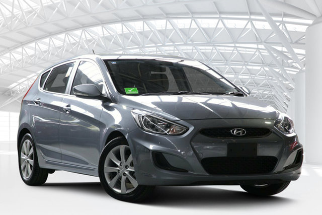 Used Hyundai Accent RB6 MY18 Sport, 2018 Hyundai Accent RB6 MY18 Sport Grey 6 Speed Automatic Hatchback