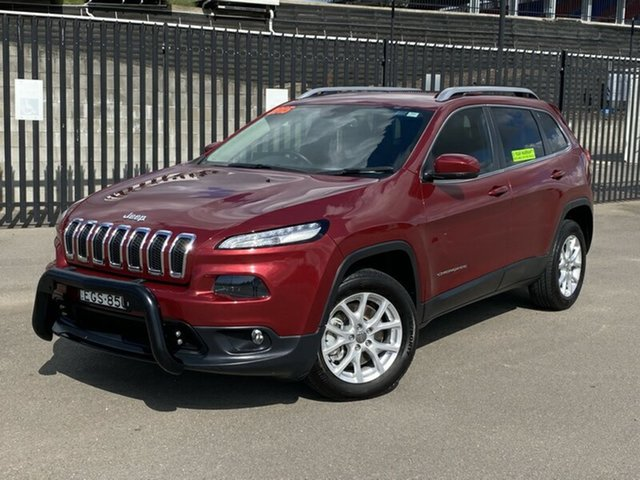 Used Jeep Cherokee KL MY15 Longitude, 2014 Jeep Cherokee KL MY15 Longitude Red 9 Speed Sports Automatic Wagon