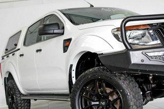 2012 Ford Ranger PX XL 2.2 Hi-Rider (4x2) White 6 Speed Manual Crew Cab Pickup.