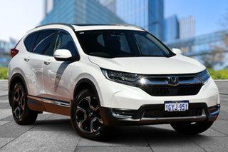 2019 Honda CR-V RW MY20 VTi-LX 4WD Platinum White 1 Speed Constant Variable Wagon.