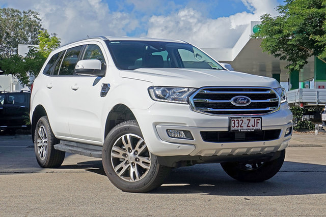 Used Ford Everest UA II 2019.75MY Trend RWD, 2019 Ford Everest UA II 2019.75MY Trend RWD Arctic White 10 Speed Sports Automatic Wagon