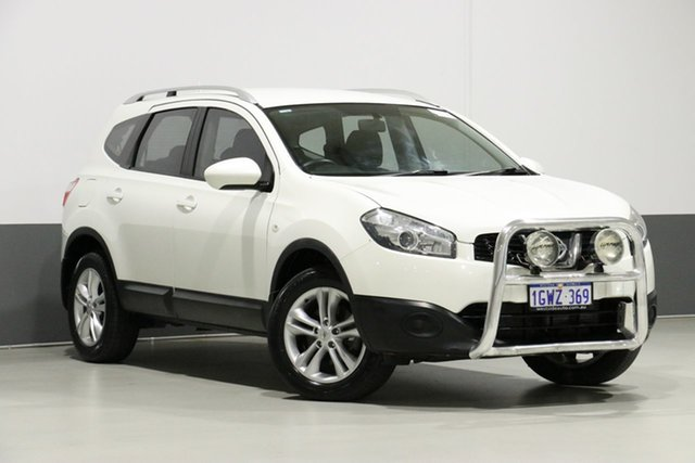 Used Nissan Dualis J10 MY13 +2 ST (4x2), 2013 Nissan Dualis J10 MY13 +2 ST (4x2) Pearl White 6 Speed CVT Auto Sequential Wagon