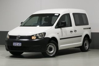 2013 Volkswagen Caddy 2K MY13 TDI250 White 7 Speed Auto Direct Shift Van.