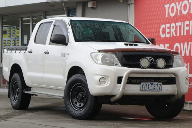 Used Toyota Hilux KUN26R MY10 SR, 2011 Toyota Hilux KUN26R MY10 SR Glacier White 5 Speed Manual Utility