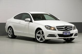 2013 Mercedes-Benz C250 W204 MY14 CDI White 7 Speed Automatic G-Tronic Coupe.