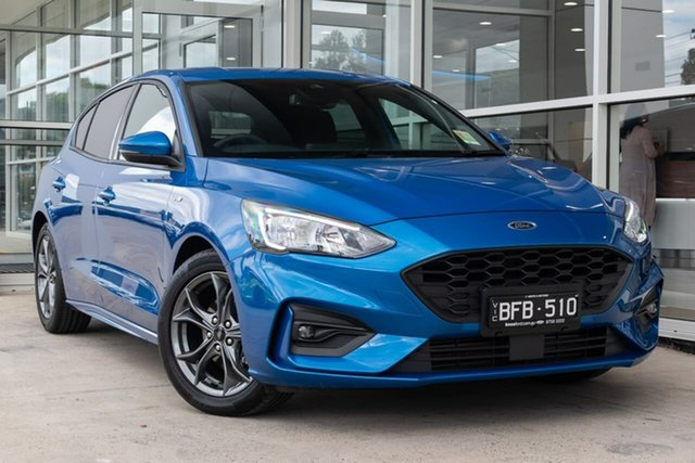 Demo Ford Focus SA 2019.75MY ST-Line, 2019 Ford Focus SA 2019.75MY ST-Line Blue 8 Speed Automatic Hatchback